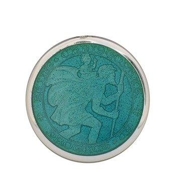 Aqua Medium St. Christopher Medal
