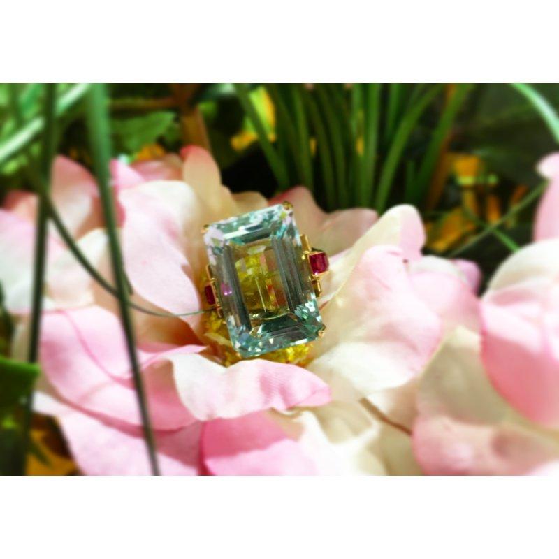 Rose Gold Aquamarine Ring