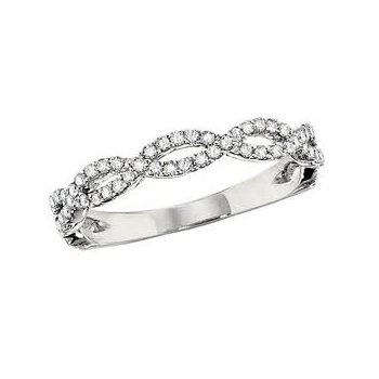 Diamond Twist Anniversary Band