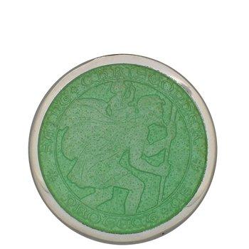 Light Green Large St. Christopher Medal