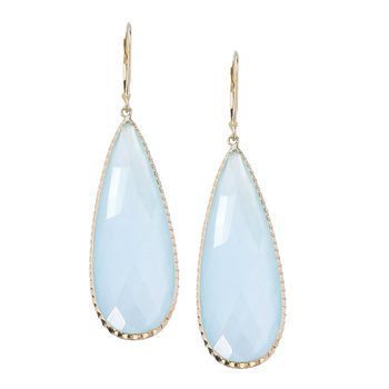 Long Drop Chalcedony Earrings