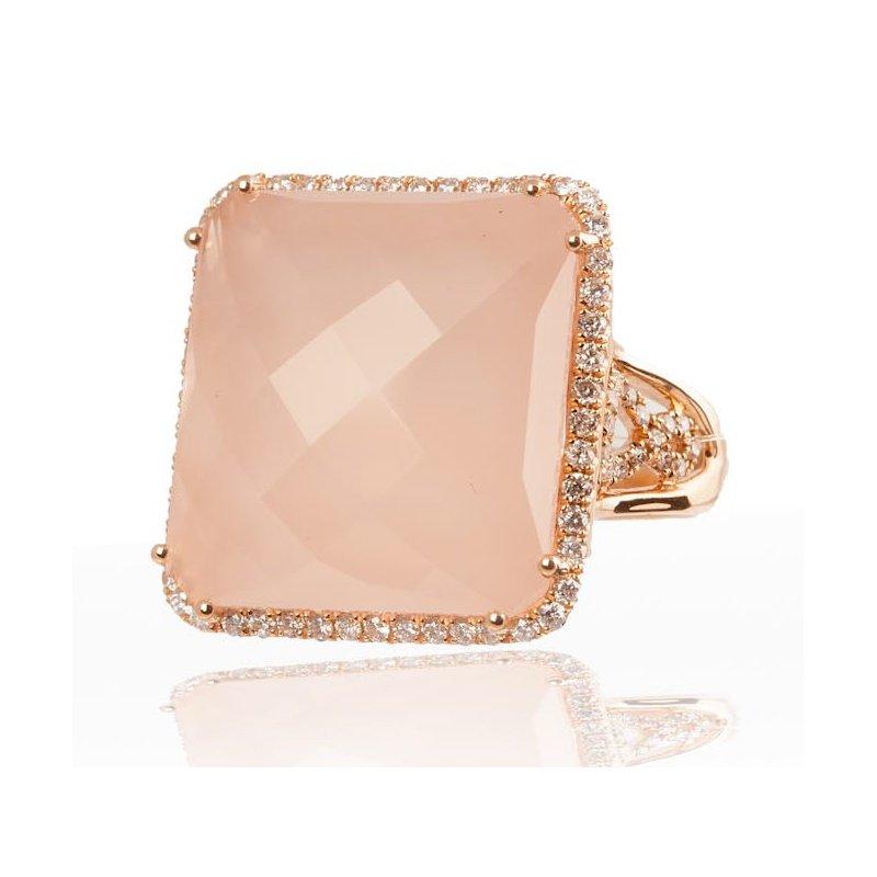 Large Pink Quartz Ring
