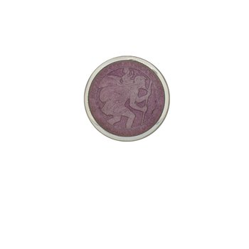 Lavender Extra Small St. Christopher Medal