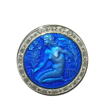 Zodiac Enamel Virgo Charm