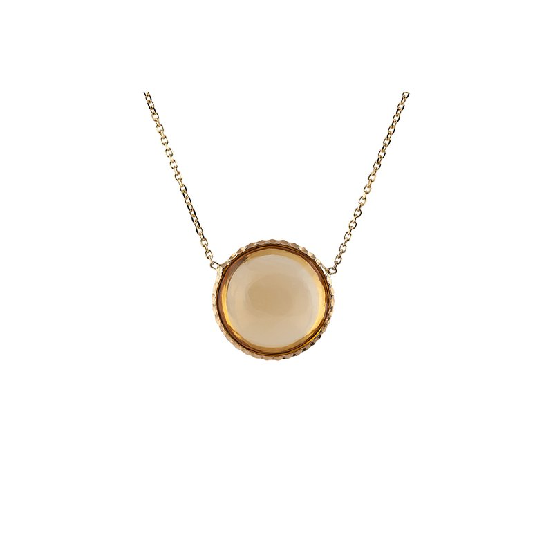 Cabochon Citrine Necklace