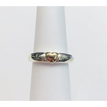 Sterling Silver and 14k gold heart
