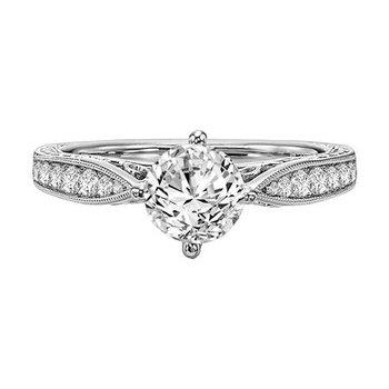 Diamond Filagree Engagement Ring