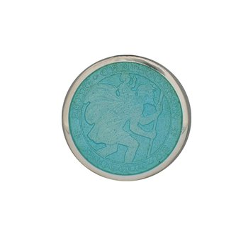 Light Blue Small St. Christopher Medal