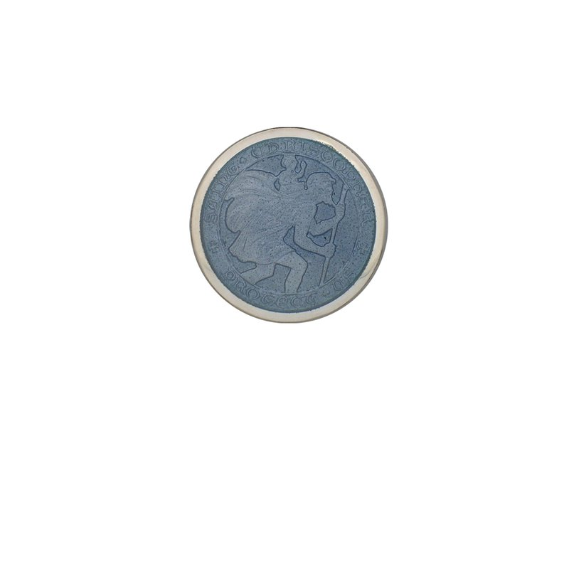 Gray Extra Small St. Christopher Medal