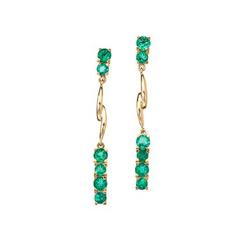 Emerald Ribbon Earrings