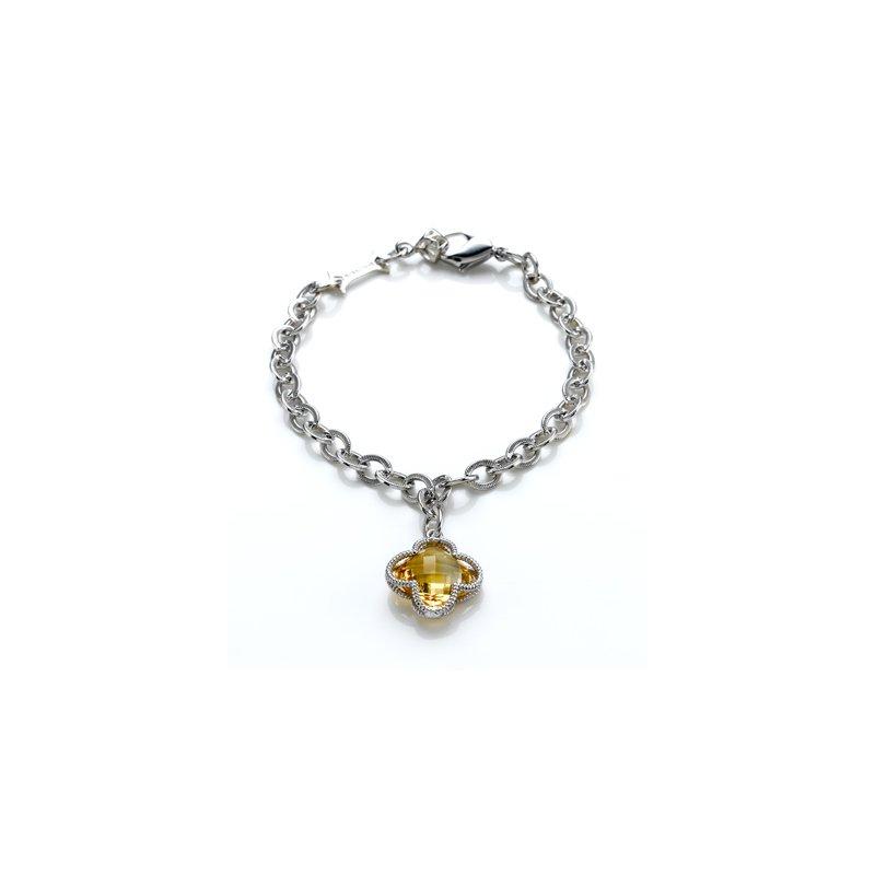 Clover Citrine Charm Bracelet