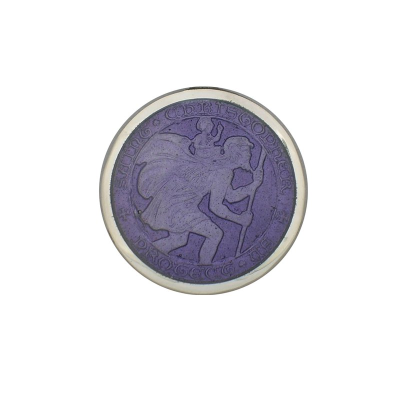 Purple Small St. Christopher Medal
