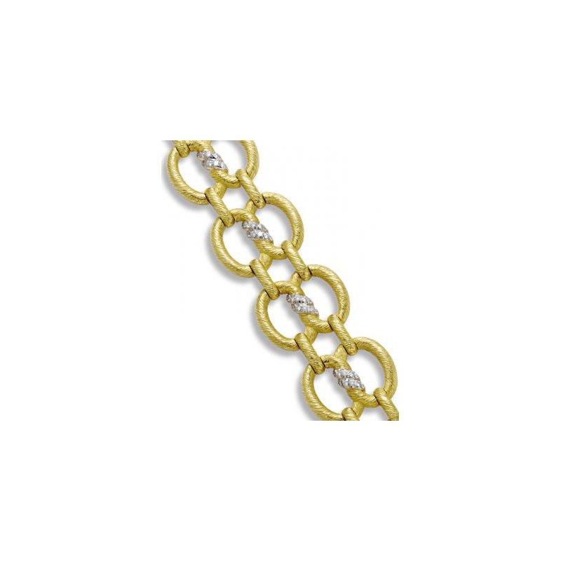 Gold Bark Large Link Bracelet