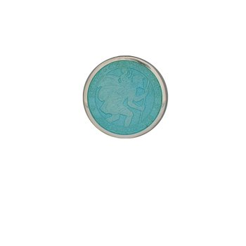 Light Blue Extra Small St. Christopher Medal