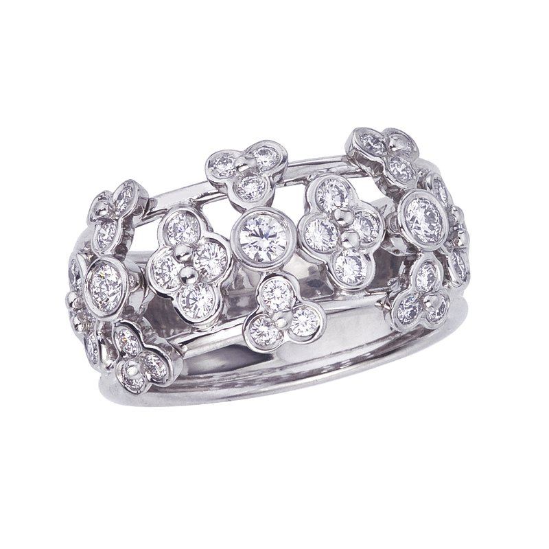 Diamond Lace Wide Band Ring