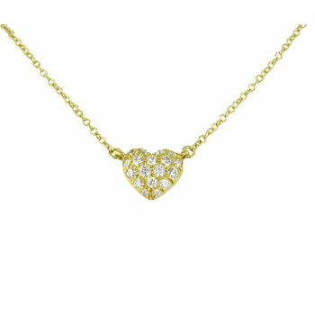 Gold Petite Pave Heart Necklace