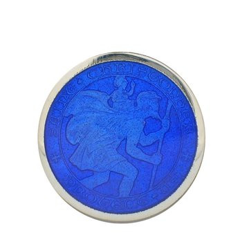 Royal Blue Medium St. Christopher Medal