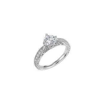 Diamond Filagree Engagement Ring