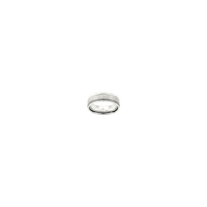White Gold Wedding Band with Twist