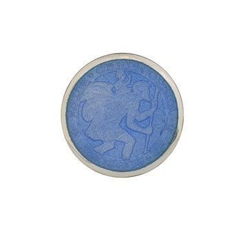 French Blue Small St. Christopher Medal