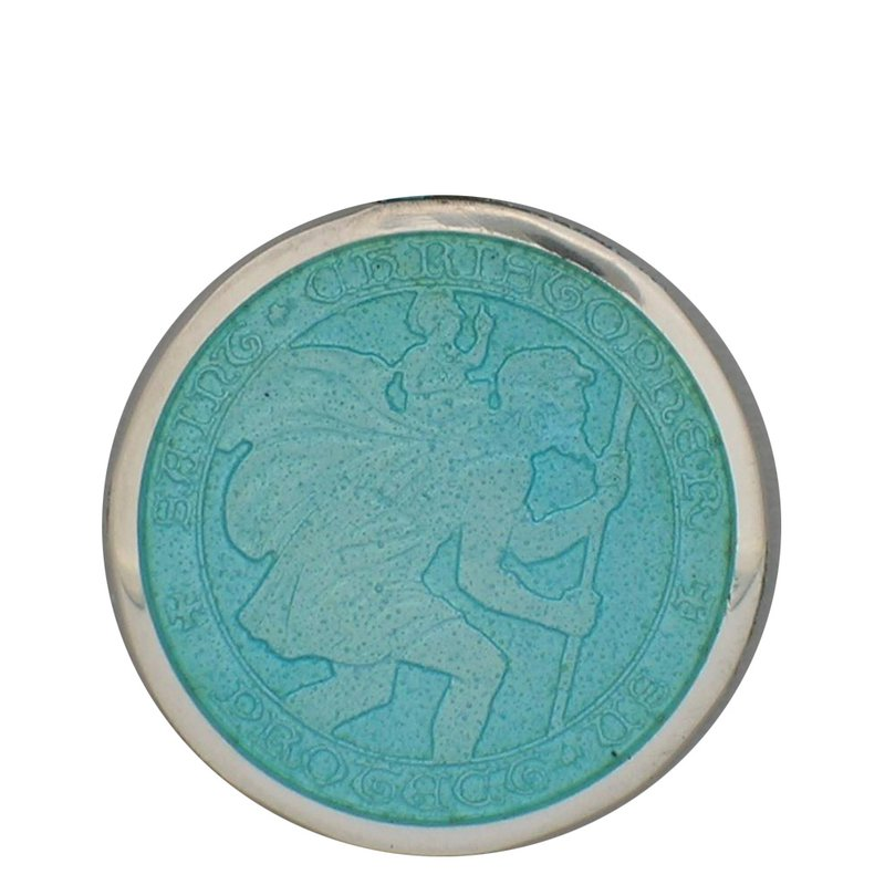 Light Blue Large St. Christopher Medal