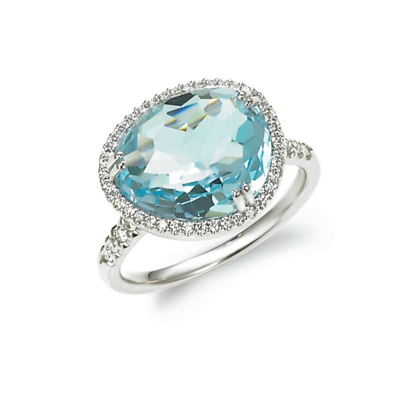 Candy Colors Blue Topaz Ring