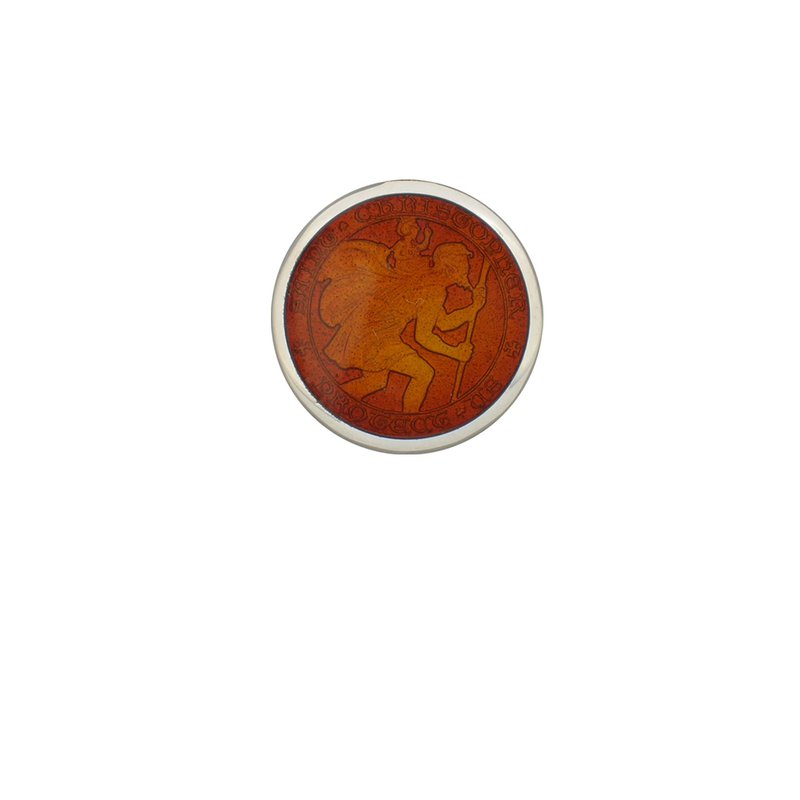 Red Extra Small St. Christopher Medal