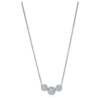 Three Diamond Cluster Necklace