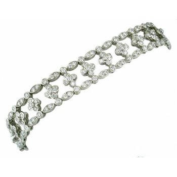 Diamond Lace Wide Bracelet