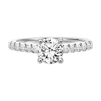 Elegant Shared Prong Shank Engagement Ring