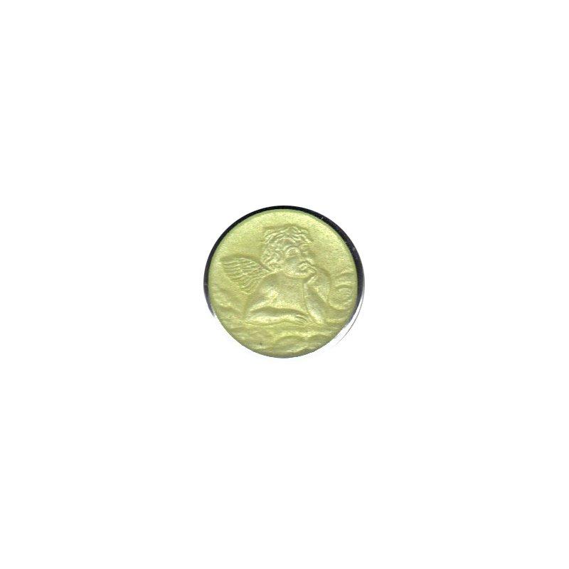 Enamel Cherub Medal Small