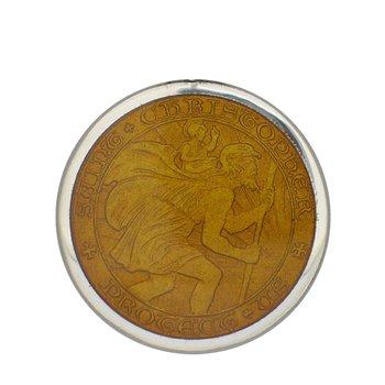 Topaz Medium St. Christopher Medal