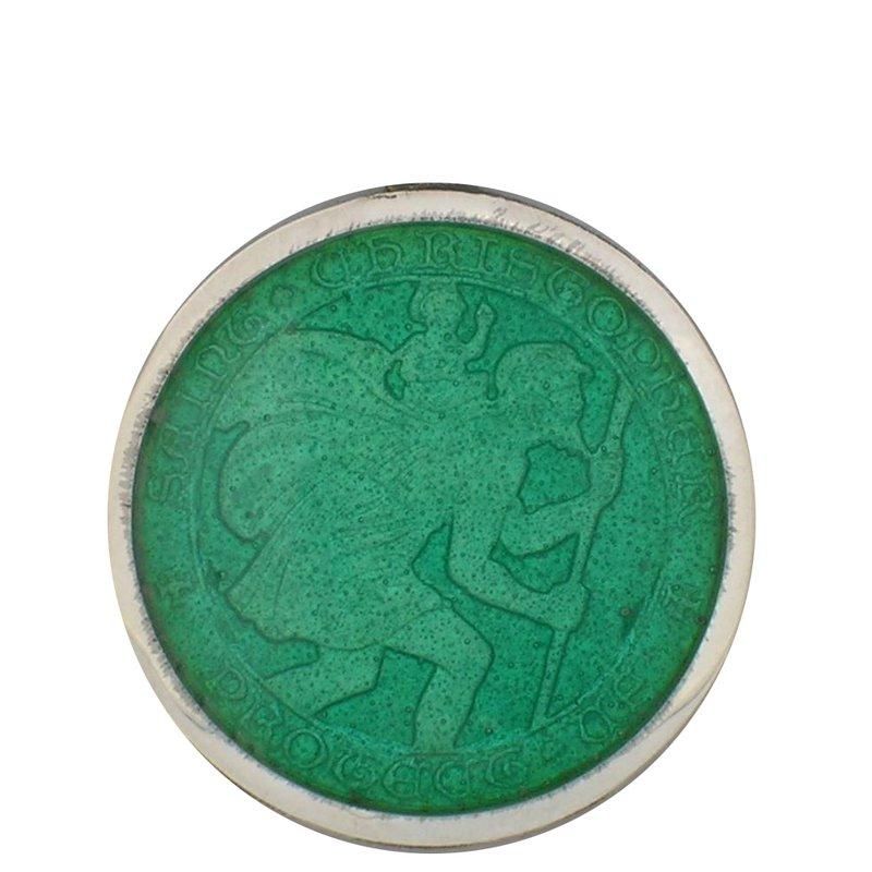Jade Large St. Christopher Medal
