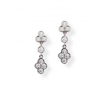 Diamond Lace Drop Earring