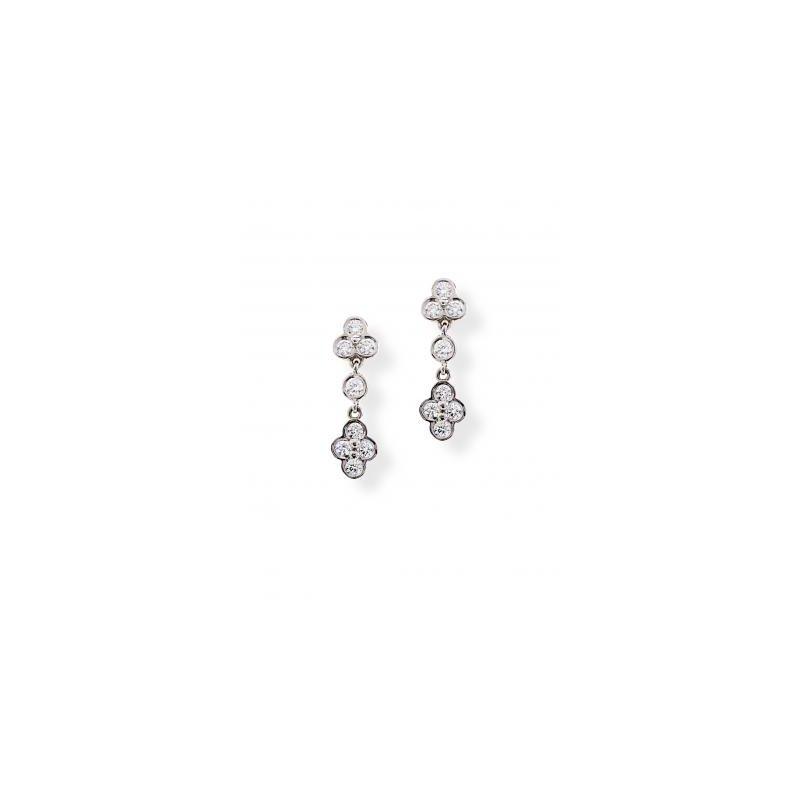 Diamond Lace Drop Earring