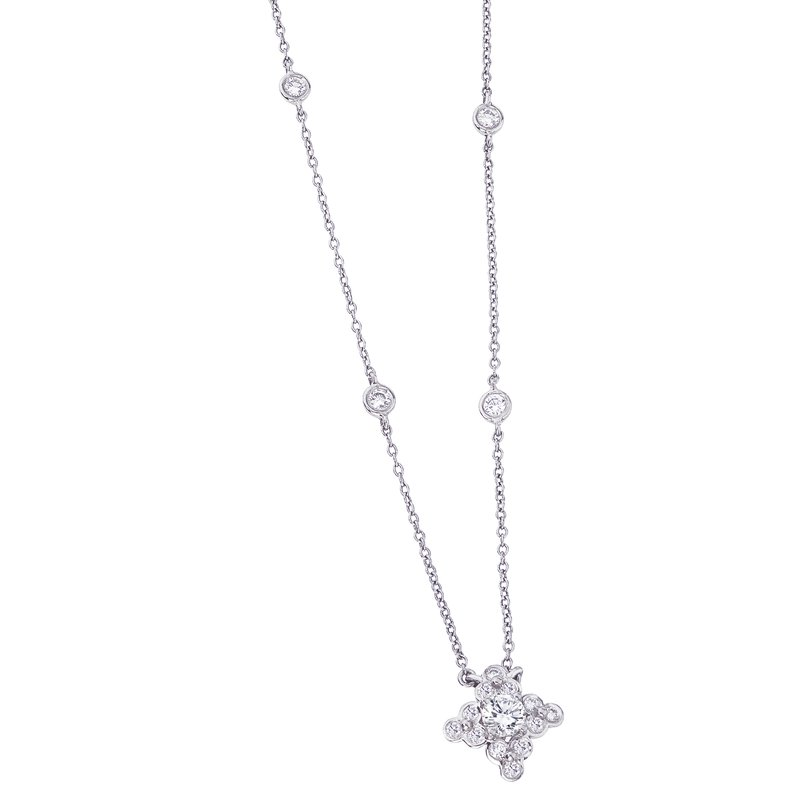 Diamond Star Pendant with Diamond Chain