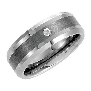 Tungsten Band with Diamond