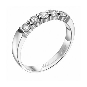 Platinum Petite Prong Diamond Band
