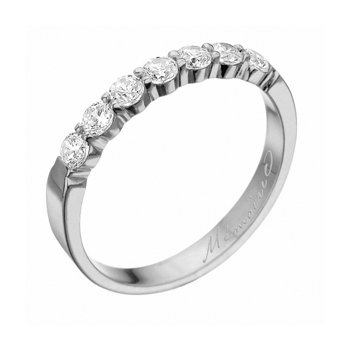Petite Prong Seven Diamond Band