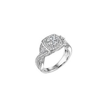 Twist Band Diamond Engagement Ring