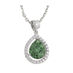 Invisibly Set Tsavorite and Diamond Pendant