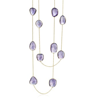 Multi Shape Amethyst Necklace