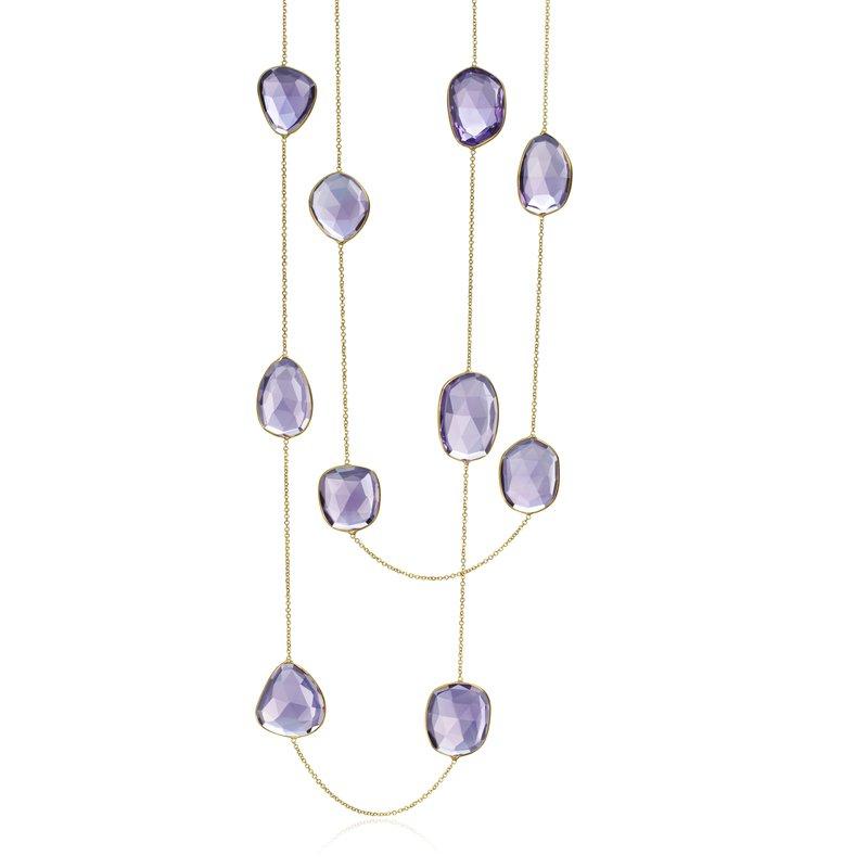 Multi Shape Amethyst Necklace
