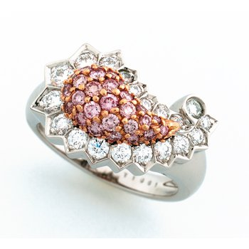 Pink Diamond Paisley Ring