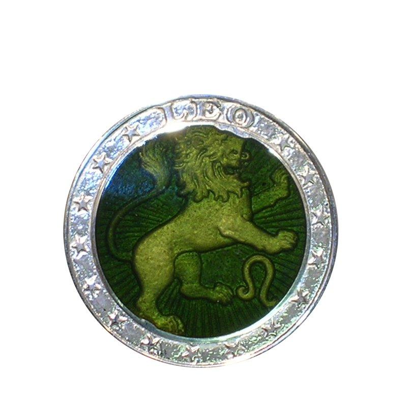 Zodiac Enamel Leo Charm