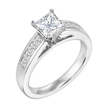 Diamond Engagement Ring with Princess Diamonds