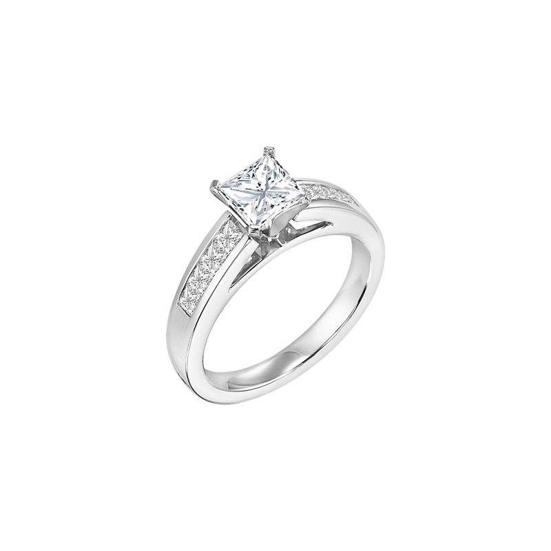 Diamond Engagement Ring with Princess Diamonds