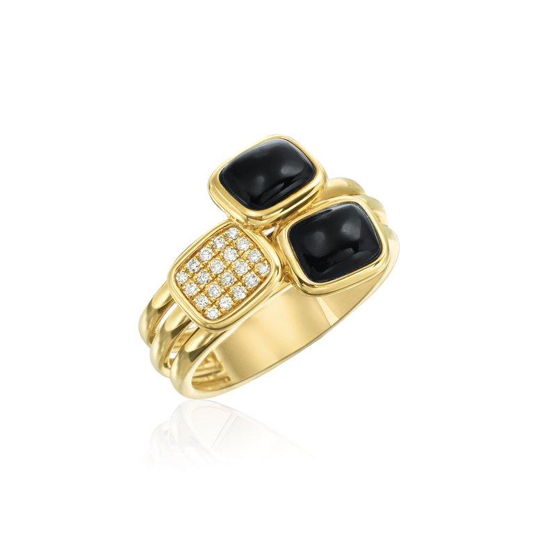 Onyx and Diamond Ring