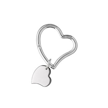 Sterling Heart Key Ring