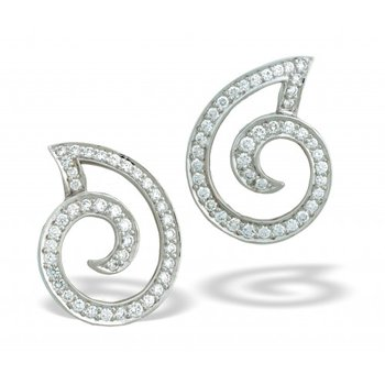 Diamond Swirl Earring